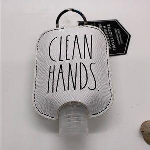 Rae Dunn Clean Hands Key Chain Holder Sanitizer